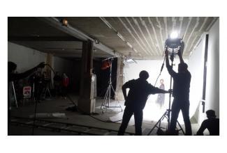 #silhouettes et #figurants pour tournage clip musical Warner #Montpellier