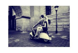 #figurant avec #scooter #italien pour tournage film américain à #Paris