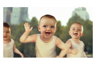 #figuration #bebe filles 6/10 mois #latine pour #publicité eau minérale